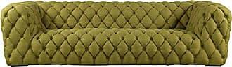 Kardiel CUMULUS3-ATOMICMOSS Cumulus Mid-Century Modern Tufted Sofa, Atomic Moss Vintage Twill