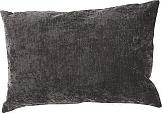 Jaipur Solid Pattern Black Linen and Cotton Polly Fill Pillow, 16-Inch x 24-Inch, Charcoal Gray Luxe
