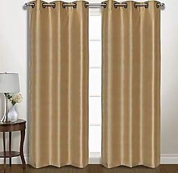 United Curtain VINT63GO Vintage Window Curtain Panel Pairs, 74 X 63, Gold,74 X 63