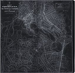 Hatcher & Ethan Design For Australias Capital Map 1911 Canvas Art - HE10960_43X43_CANV_XXHD_HE