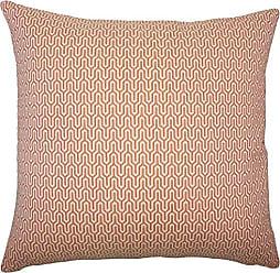 The Pillow Collection Pandora Geometric Bedding Sham Melon Euro/26 x 26