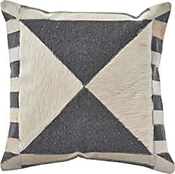 L.R. Resources Inc. L.R. Resources PILLO07330CBIFFPL Homestead Gaucho Abstract Indoor Throw Pillow, 20x20, Charcoal/Beige