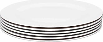 Zak designs 1313-0848-ISET Ella Salad Plates, Set, Eggshell White SP