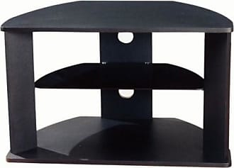 4D Concepts Corner TV Stand with Glass Shelf