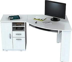 Inval America Inval ET-3415 Computer Desks, Laricina White