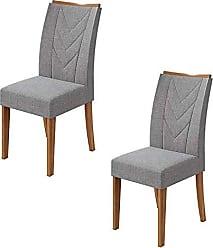 Lopas Conjunto 02 Cadeiras Atacama Rovere Naturale Lopas