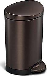 Braun 6 Liter Edelstahl simplehuman Treteimer
