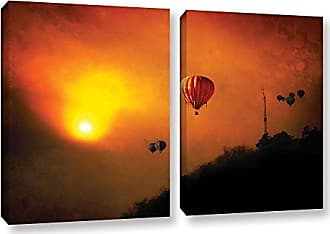 ArtWall 2 Piece Dragos Dumitrascus Sunset Expedition Gallery Wrapped Canvas Artwork, 18 x 28