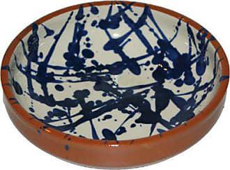 Amazing Cookware Cruche en Terre Cuite Splatter Chubby cr/ème//Bleu