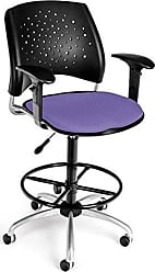OFM 326-AA3-DK-2202 Stars Swivel Stool with Arms