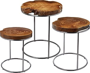 Dimond Home Natural Teak Stacking Tables