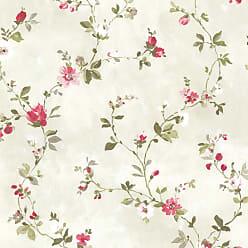 Brewster Home Fashions Sarafina Floral Scroll Wallpaper Magenta - 2686-21639