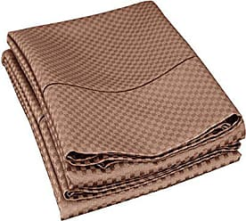 Superior Cotton Blend 800 Thread Count Jacquard Weave Micro-checkers Wrinkle Resistant Standard Pillowcase Pair, Taupe