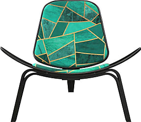NyeKoncept Shell Stained Glass Accent Chair Silver / White / Gold - 14000483