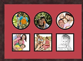 Art to Frames Double-Multimat-697-762/89-FRBW26061 Collage Frame Photo Mat Double Mat with 6-5x5 Openings and Espresso Frame