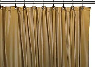 Ben&Jonah Ben & Jonah 8 Gauge Hotel Vinyl Shower Curtain Liner with Metal Grommets in Gold, Size 72X72 Splash Collection by Ben&Jonah
