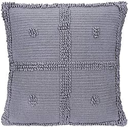 Creative Co-op Creative Co-op Grey Square Cotton Chenille Looped Pillow