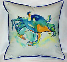 Betsy Drake Orange Crab Indoor/Outdoor Pillow, 18 x 18
