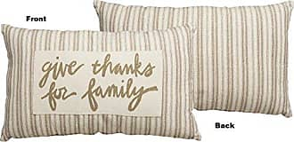 Primitives By Kathy Hand-Lettered Throw Pillow, 24 x 15-Inches, Give Thanks