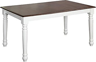 Target Marketing Systems Skipton Collection Modern Dual Tone Rectangular Dining Room Table Designed to Seat 6, White/Wood