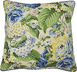 Ellery Homestyles WAVERLY Floral Flourish Decorative Pillow, 20x20, Porcelain