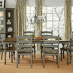 Progressive Furniture D880-10 Colonnades Dining Table, Gray/Brown