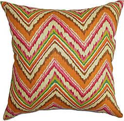 The Pillow Collection Dayana Zigzag Bedding Sham Orange Pink, King/20 x 36