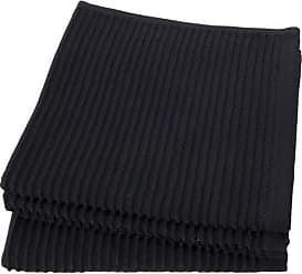 Now Designs Ripple Kitchen Dishcloth, Set of 4, Black
