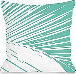 One Bella Casa Alaiya Palm Leaves Throw Pillow by OBC, 18x 18, Turquoise