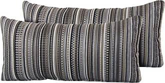 TK Classics Black Stripe 22 x 11 in. Outdoor Throw Pillow - Set of 2 - PILLOW-BLACKSTR-R-2X