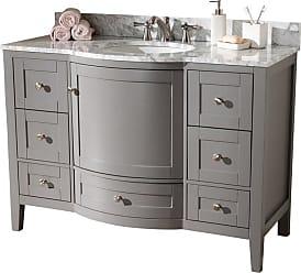 Baxton Studio Nicole 48 in. Single Sink Bathroom Vanity - NICOLE-48-SLATE GREY