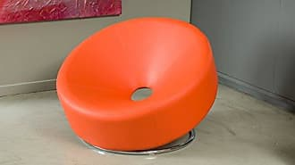Christopher Knight Home 258635 Nouvelle Modern Design Orange Leather Lounge Chair