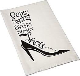 Primitives By Kathy LOL Made You Smile Dish Towel, 28 x 28, Grocery Money