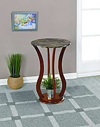 Coaster Home Furnishings Round Marble Top Plant Stand Brown