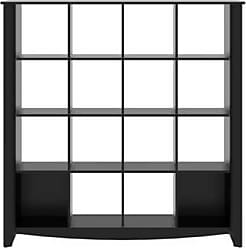 Bush Furniture Furniture Aero Collection Classic Black 16 Cube Bookcase
