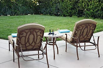 DARLEE Florence 3 Piece Aluminum Outdoor Chaise Lounge Set - 201020-3PC-33RQ-AB