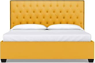Apt2B Huntley Drive Upholstered Bed - Leg Finish: Espresso - Size: Eastern King - Marigold Velvet - Yellow with Bedroom Furniture sold by Apt2B