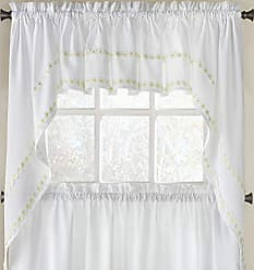 Sweet Home Collection Kitchen Window Curtain Tier, Swag, or Valance Treatment in Stylish and Unique Patterns and Designs for All Home Décor Daisy Mae Yellow