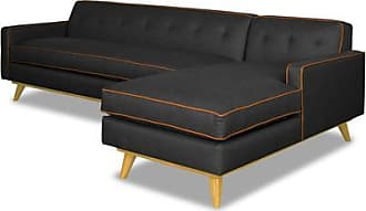 Apt2B Clinton 2pc Sectional Sofa - Leg Finish: Natural - Configuration: Right Chaise - Dark Grey Poly Blend - Sold by Apt2B - Modern Couch Made in the