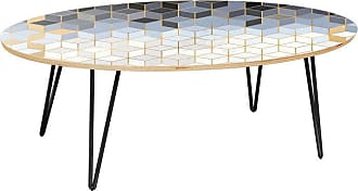 NyeKoncept Ondine Midnight Gold Deco Hairpin Coffee Table - 12032099