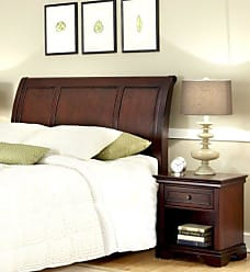 Home Styles Lafayette Cherry Queen/Full Sleigh Headboard & Night Stand by Home Styles