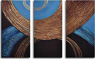 Omax Decor Liquid Gold 3-Piece Canvas Wall Art - 36W x 24H in. - M 2067