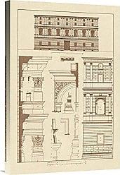 Bentley Global Arts Global Gallery Budget GCS-394631-1624-142 J. Buhlmann Palazzo Giraud at Rome Gallery Wrap Giclee on Canvas Wall Art Print