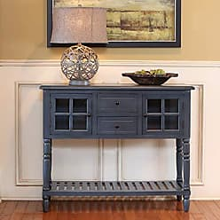 Decor Therapy FR8443 Accent Table, Antique Navy
