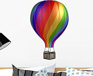 Wallmonkeys Colorful Hot Air Balloon Wall Decal Peel and Stick Graphic (24 in H x 18 in W) WM145083