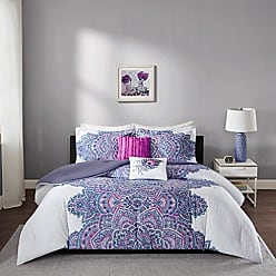 INTELLIGENT DESIGN Mila Comforter Set Twin/Twin XL Size - Purple, Medallion - 4 Piece Bed Sets - All Season Ultra Soft Microfiber Teen Bedding - Perfect For Dormitory - Great For Girls Bedroom