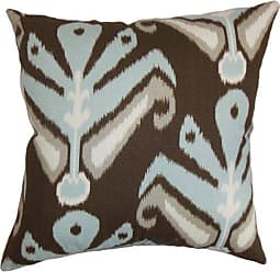 The Pillow Collection The Pillow Collection Sakon Ikat Pillow, Ikat Aqua Cocoa