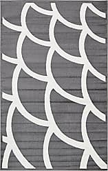Unique Loom Metro Collection Abstract Geometric Wavy Scales Gray Area Rug (5 x 8)