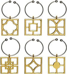 Thirstystone NCH088 Old Hollywood Tone Wine Charms, Gold