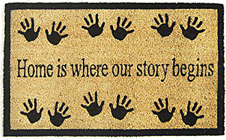 Geo Crafts Vinyl Back Home Story Begins Doormat